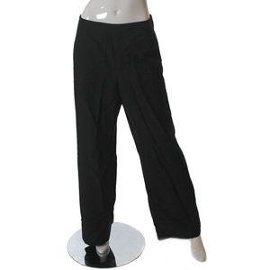 Le Suite Womens Wide Leg Dress Pants Black Size 18
